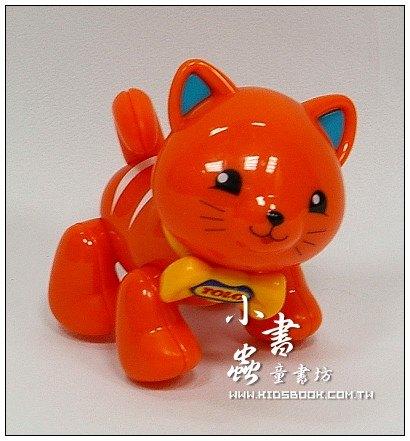 內頁放大:小貓咪(橘):TOLO動物公仔(現貨數量:2)絕版品