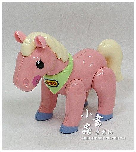 內頁放大:小馬(粉紅):TOLO動物公仔