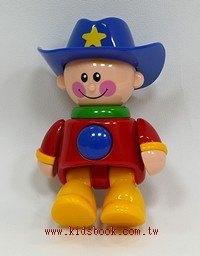 牛仔 (藍帽子):TOLO人物公仔