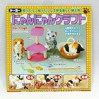 日本紙勞作:小貓剪貼DIY材料包