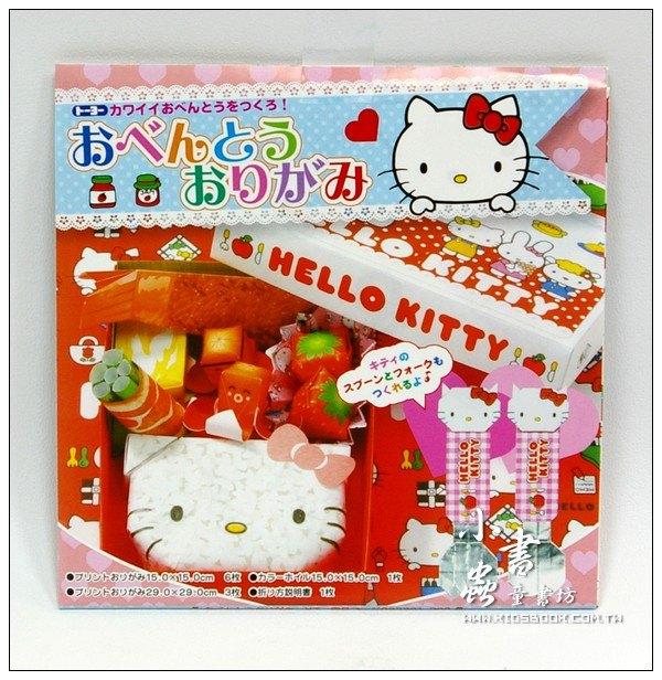 內頁放大:日本色紙:HELLO KITTY便當組材料包