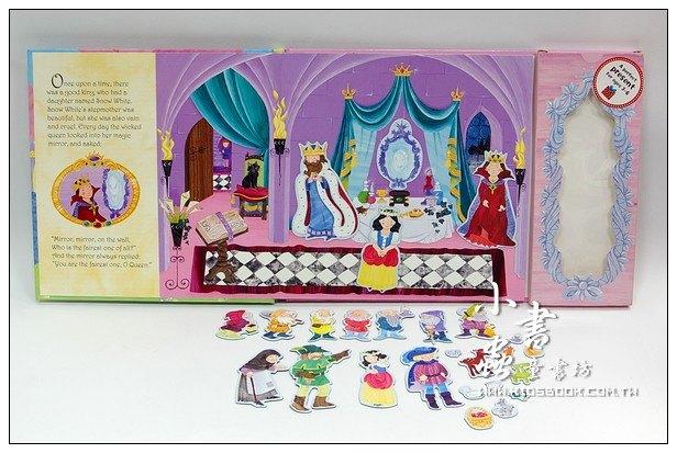 內頁放大:磁鐵書:Snow White(白雪公主)