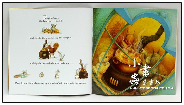 內頁放大:PUMPKIN SOUP (南瓜湯)(平裝書+CD)(繪本湯)