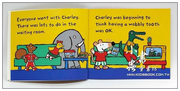 內頁放大:小鼠波波和牙醫:maisy,charley and the wobbly tooth(平裝書)