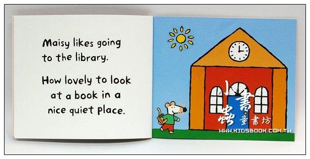 內頁放大:小鼠波波繪本故事:maisy goes to the Library(波波去圖書館)(平裝)