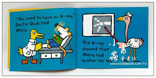 內頁放大:小鼠波波繪本故事:maisy goes to the Hospital(平裝)(波波住院了)