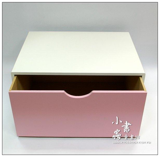 內頁放大:抽屜收納櫃─粉紅(單抽)(不適用貨到收款)