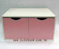 抽屜收納櫃─粉紅(雙抽)(不適用貨到收款)