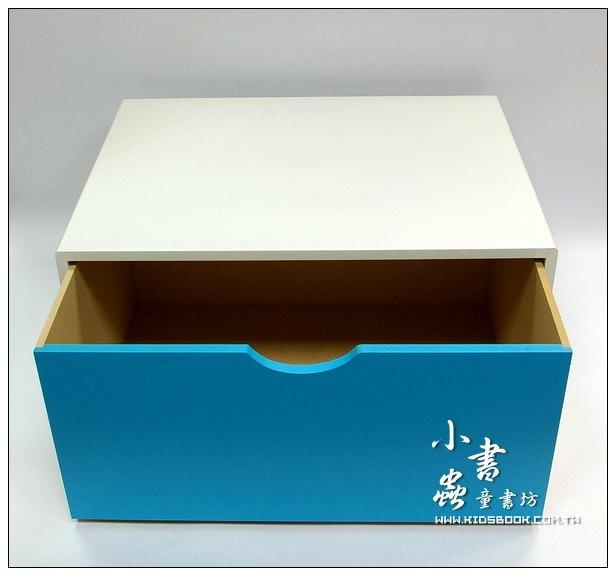 內頁放大:抽屜收納櫃─天藍(單抽)(不適用貨到收款)