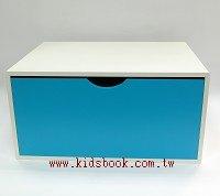 抽屜收納櫃─天藍(單抽)(不適用貨到收款)