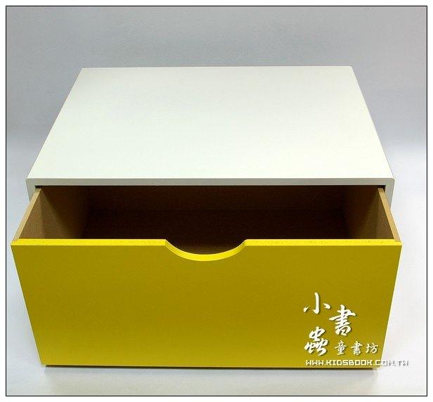 內頁放大:抽屜收納櫃─黃(單抽)(不適用貨到收款)