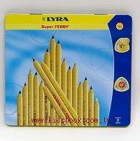 德國LYRA─粗三角色鉛筆(原木18色)17.5cm