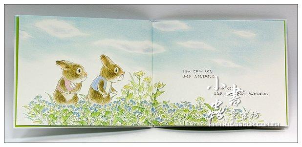 內頁放大:小兔子小風、小花和牛(日文版,附中文翻譯)