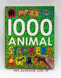 圖鑑貼紙遊戲書:1000 ANIMAL STICKERS