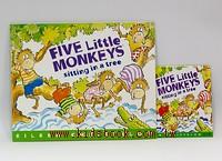 FIVE LITTLE MONKEYS SITTING IN A TREE(平裝書+歌唱、故事CD)