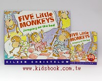 FIVE LITTLE MONKEYS JUMPING ON THE BED(平裝書+歌唱、故事CD)