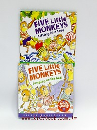 FIVE LITTLE MONKEYS JUMPING ON THE BED+SITTING IN A TREE CD 2合1