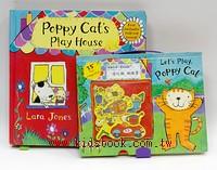 波比貓(poppy cat)劇場遊戲書+磁鐵遊戲書 2合1