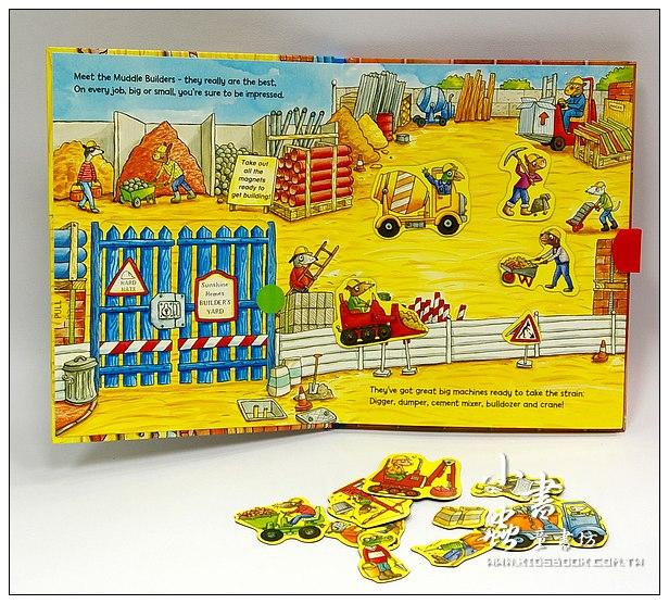內頁放大:磁鐵遊戲書:Muddle builders