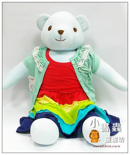 內頁放大:孩子的大朋友-手工綿柔大布偶:可愛大大熊(淡天藍色 )(台灣製造)