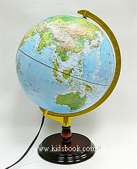地球儀(地形、行政圖)