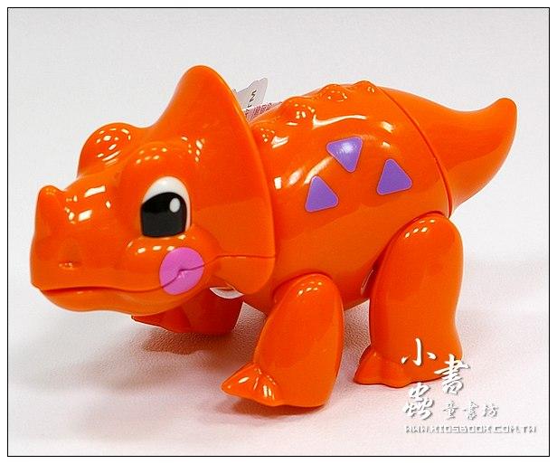 內頁放大:三角龍:TOLO動物公仔(恐龍系列)(現貨數量:1)絕版品