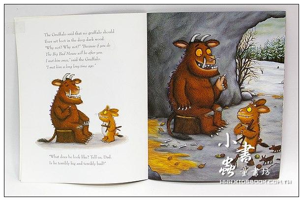 內頁放大:THE GRUFFALO,S CHILD(古肥玀和小猊猊) (平裝書+CD)
