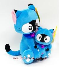 貓咪玩偶(母與子)藍貓