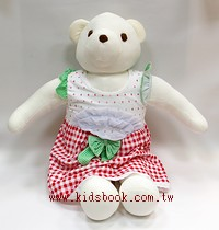 手工綿柔學習大布偶:可愛大大熊(白色)(台灣製造)