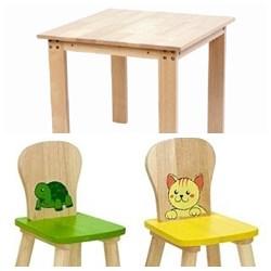 兒童傢俱─桌子+2把椅子(圖案可任選)