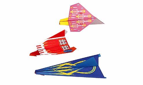 內頁放大:日本摺紙材料包:紙飛機3(8款作品)(中級)現貨數量:4