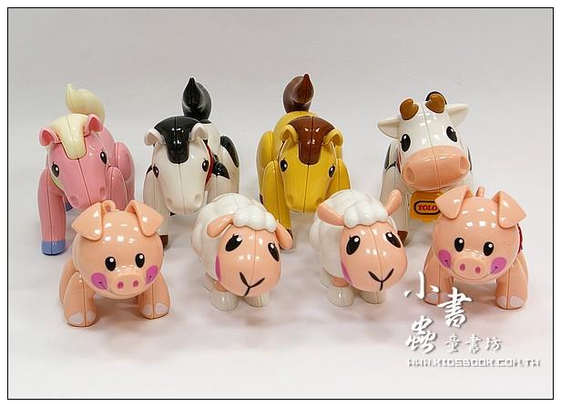 內頁放大:TOLO公仔:農場動物8合1 (送收納盒)