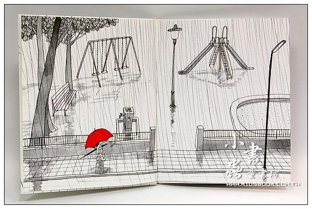 內頁放大:雨傘(無字繪本)(85折)