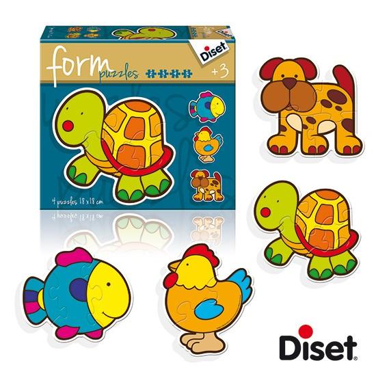 內頁放大:西班牙寶寶漸進式拼圖─可愛動物(2.3.4.5pcs)軋型系列(特價 )