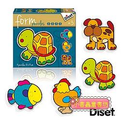 西班牙寶寶漸進式拼圖─可愛動物(2.3.4.5pcs)軋型系列(特價 )
