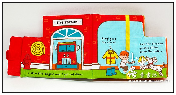 內頁放大:布書:Little Fire Engine 小小消防車(79折)