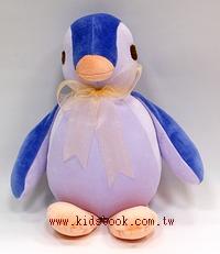 手工綿柔音樂布偶:胖胖企鵝(紫、橘、藍)(台灣製造)
