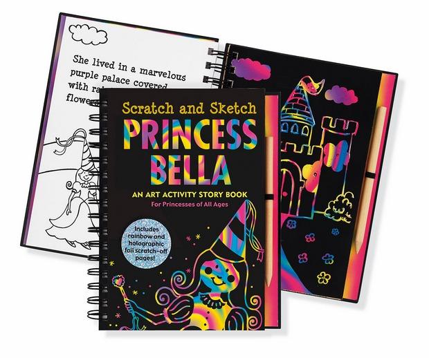 內頁放大:刮畫書:Princess Bella(公主)現貨數量:1