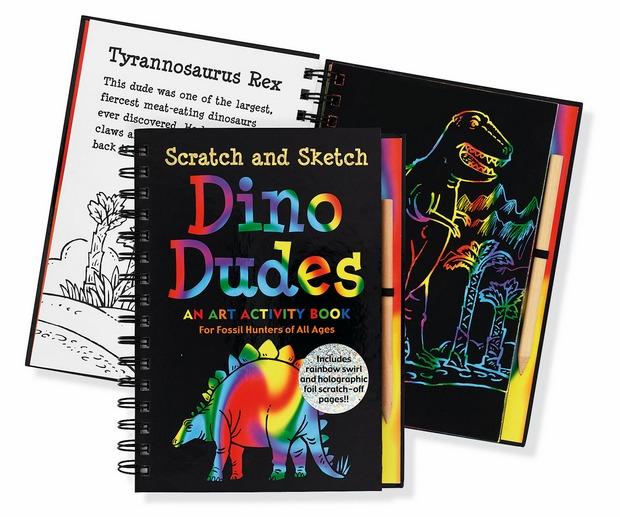 內頁放大:刮畫書:Dino Dudes(恐龍)現貨數量:1