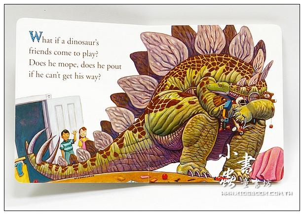 內頁放大:恐龍學習硬頁書:How do dinosaurs play with their friends?