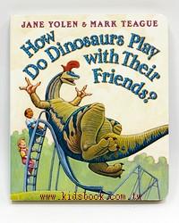 恐龍學習硬頁書:How do dinosaurs play with their friends?