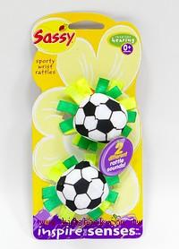 Sassy手腕搖鈴:足球(有聲音)