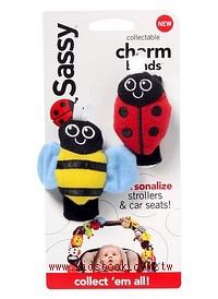 Sassy手腕搖鈴:蜜蜂、瓢蟲(無聲音)