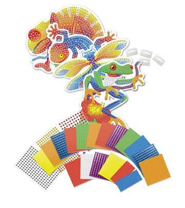 內頁放大:熱帶動物:馬賽克拼貼禮盒組(現貨數量:1)(特價出清 )
