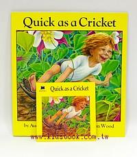 Quick as a Cricket(我和蟋蟀一樣快)(平裝書+CD)