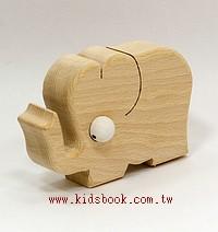 大象:可愛原木動物