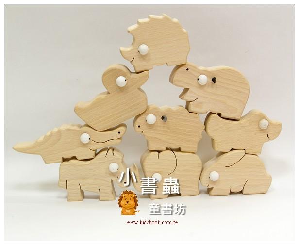 內頁放大:動物9合1(加贈收納盒):可愛原木動物