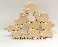 動物9合1(加贈收納盒):可愛原木動物