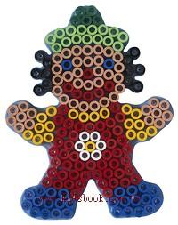 小丑透明模板:大豆豆模板
