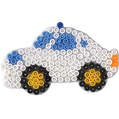 內頁放大:警車造型模板:小拼豆模板